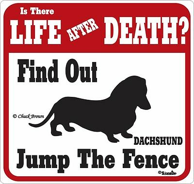 Dachshund Life After Death Funny Warning Dog Sign
