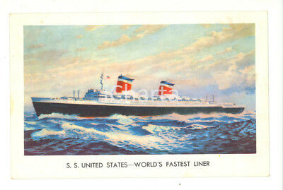 1959 - SS United States - SEA POST - nave VG