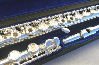 New Silver Open Holes  Flute W/Case.5 Years Warranty.