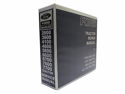 Ford Tractor 2600 through 7700 Service Manual Repair Shop Book NEW with Binder
