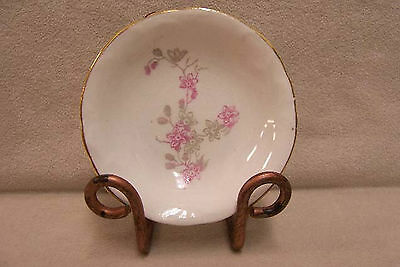 Vintage John Maddock & Sons Royal Vitreous Spoon Dish Pink Flowers