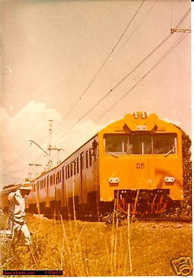 1970 Indonesian Raylways electric train REAL PHOTO