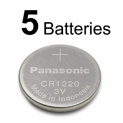 5 Panasonic CR1220 CR 1220 3v lithium battery