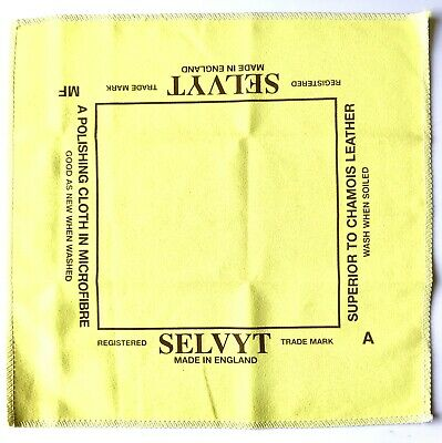 HP12999 10 x JEWELLERS SR SELVYT POLISHING LENS CLOTH 12.5cm x 12.5cm NEW