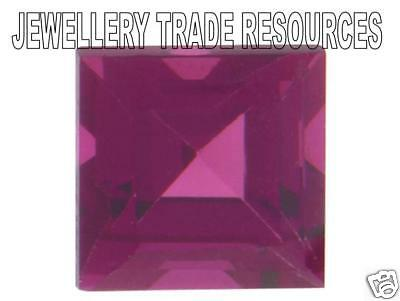Natural Purple Red Rhodolite Garnet 6mm x 6mm Gem Gemstone