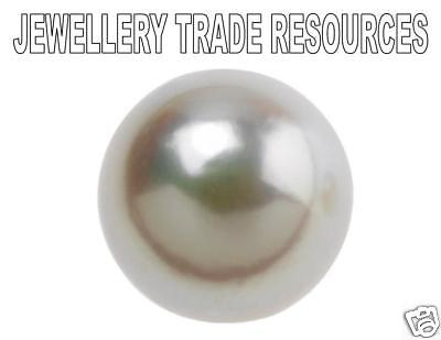Natural Cultured Pearl 1/2 Cut - Not Drilled 1mm