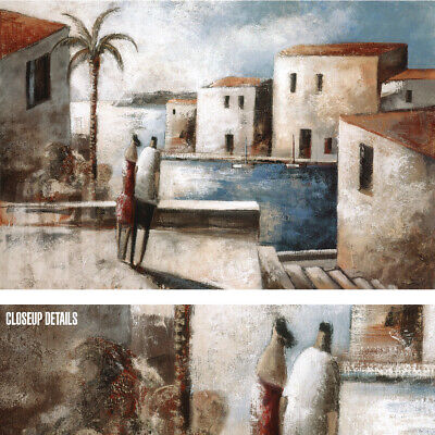 """48W/""""x24H/"""" EL FORASTERO by DIDIER LOURENCO STREET VIEW SCENE BENCHES CANVAS"""