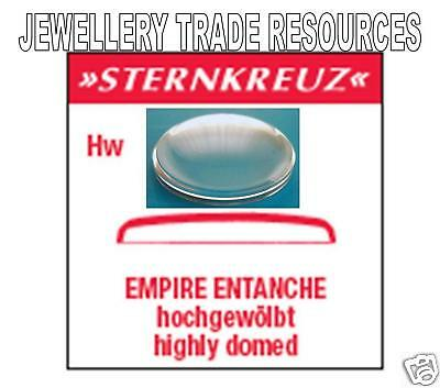 REPLACEMENT WATCH GLASS CRYSTAL - HIGH DOME - 30.2mm DIAMETER