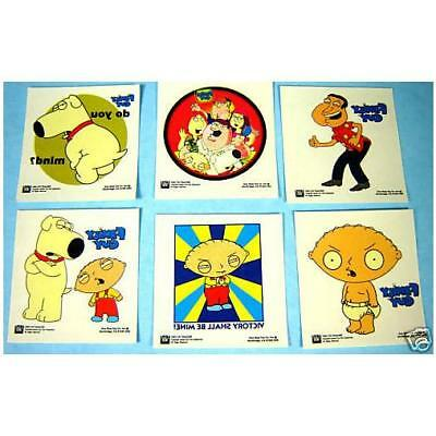 6 Official Family Guy 2Inch Temporary Tattoos - Kids Birthday Party Bag Fun Gift