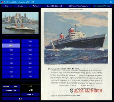 The SS United States in Advertising 1951-1968 CD-ROM