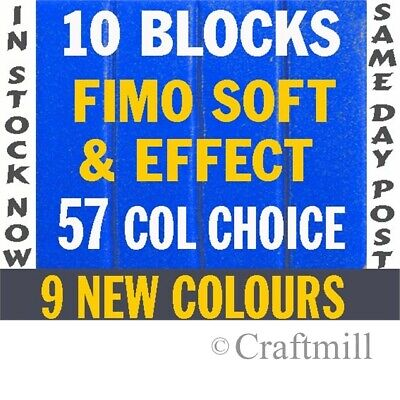 FIMO SOFT & EFFECTS Polymer Clay x 10 -560gm PICK COLRS