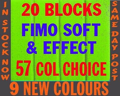 FIMO SOFT & EFFECTS Polymer Clay 20 pc 1120g PICK COLRS