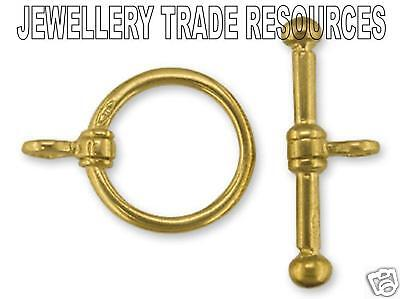 9ct Yellow Gold Ring & Toggle Bar Jewellery Clasp