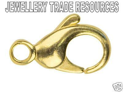 9ct Yellow Gold  Carabiner Trigger Jewellery Double Clasp 22mm Overall Length
