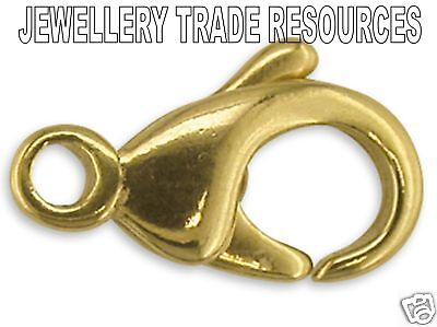 18ct Yellow Gold Carabiner Trigger Jewellery Clasp 11mm Bracelet or Necklace