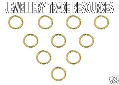 9ct Yellow Gold 8mm Heavy Jump Rings Jewellery Making