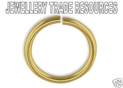 9ct Yellow Gold 9mm Heavy Jump Ring Jewellery Making