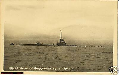1935 Sommergibile NARVALO cl. SQUALO che si immerge