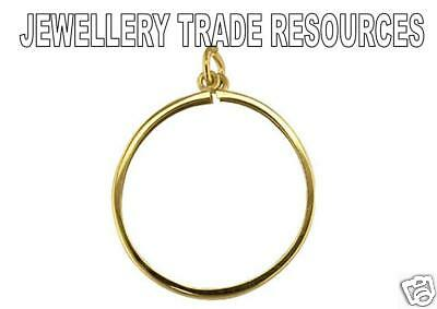 9ct YELLOW GOLD PENDANT COIN MOUNT FULL SOVEREIGN