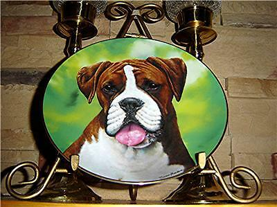 Say Aah.. CHERISHED BOXERS Puppy DOG Danbury Mint Plate