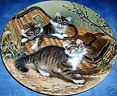 Gone Fishing: Maine Coons Cat Plate! Amy Brackenbury's!