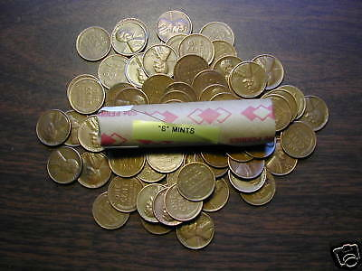 "LINCOLN WHEAT CENT ROLL mixed, all ""S"" mints, forties & fifties"