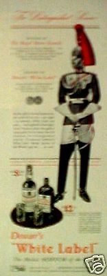 "1941 Royal Horse Guards Dewar's ""White Label"" Scotch AD"