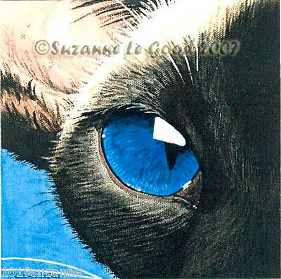 Ltd Edition Sealpoint Siamese Cat Print From Original Painting Suzanne Le Good