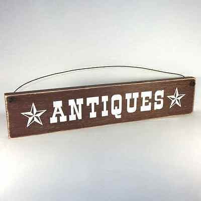 ANTIQUES Sign rustic farmhouse primitive country assorted colors ships free!