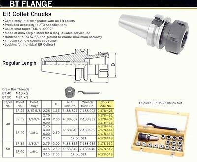 Bison BT 40 Collet Chuck ER-25 +Wrench For CNC Machines