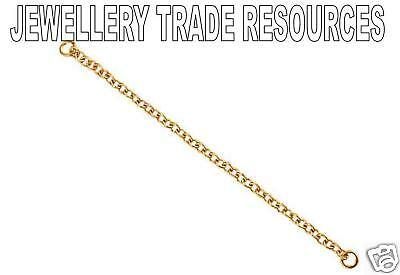 9ct Red Rose Gold Bracelet Safety Chain