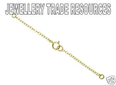 18ct Yellow Gold Necklace Safety Chain with Clasp