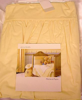 Mamas and Papas Yellow 'Jenny Giraffe' Cot Valance New!