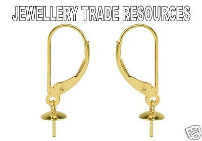18ct Yellow Gold Earring Ear Wires Jewellery Making