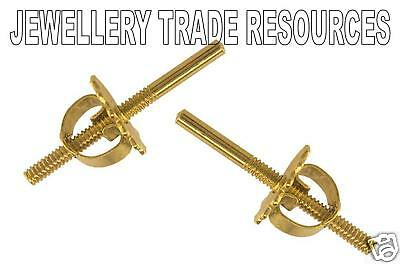 18ct YELLOW GOLD THREADED EARRING POST AND SCROLL