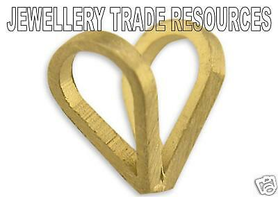 18ct YELLOW GOLD PENDANT CHAIN LOOP BAIL SMALL