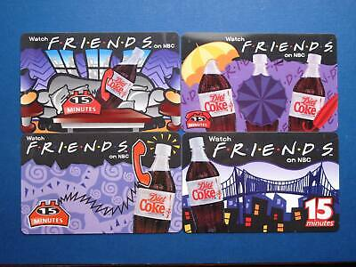 Coca-Cola Watch Friends on NBC with Diet Coke phonecard set of 4