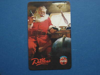 Coca-Cola Santa At Desk with Notebook phonecard by  Dillons