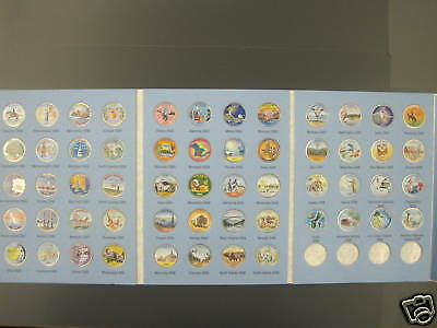 1999-2009 Colorized State Quarters Album Of Fifty-Six