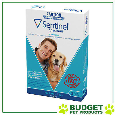 Sentinel Spectrum For Dogs 22-45kg Blue 3 pack