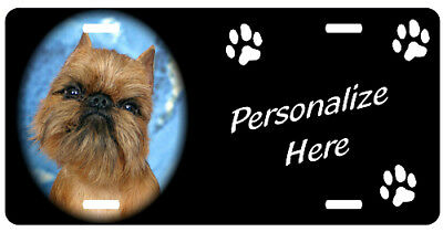 Brussels Griffon  personalized automobile license plate