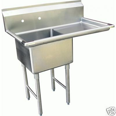 """1 Compartment Prep Sink 15""""x15"""" with 1 Right Drainboard"""