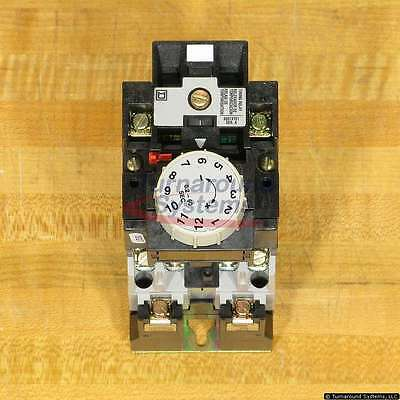 Square D 8501XO20XTE1V02 AC Timing Relay, 0.2-60 Seconds, 120 VAC Coil, NEW!