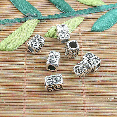 10pcs tibetan silver color 2sided corss conector design  H1112