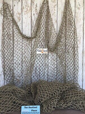 Authentic Used Nylon Fishing Net 5'x10' ~ Fish Netting ~ Nautical Decor