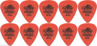 10 X Jim Dunlop TORTEX 0.60mm Guitar Picks / Plectrums *NEW* Orange Standard