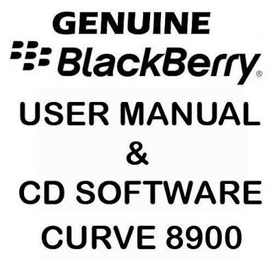 Original Genuine Blackberry Curve 8900 User Manual & CD Software Tools NEW