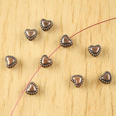 30pcs Copper-Tone Eye ovale Spacer Beads H2251