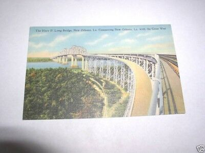 Vintage Postcard - Huey P. Long Bridge, New Orleans, La