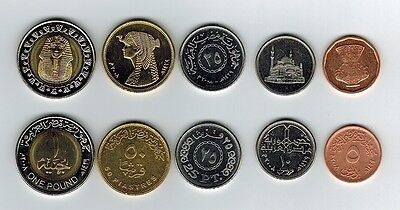 Egypt 5 Coins Uncirculated All Year 2008